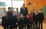 Minister Mc Hugh visits Lurgybrack!